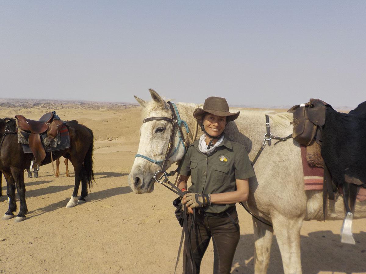Stephanie Sap - Dwars door de Namib - Vakantie te paard / Reisbureau Perlan