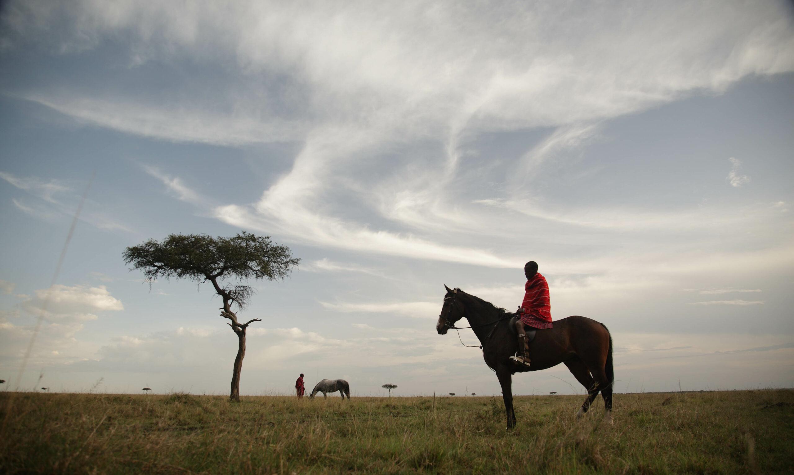 Safari te paard in de Masai regio / Kenia - Vakantie te paard / Reisbureau Perlan