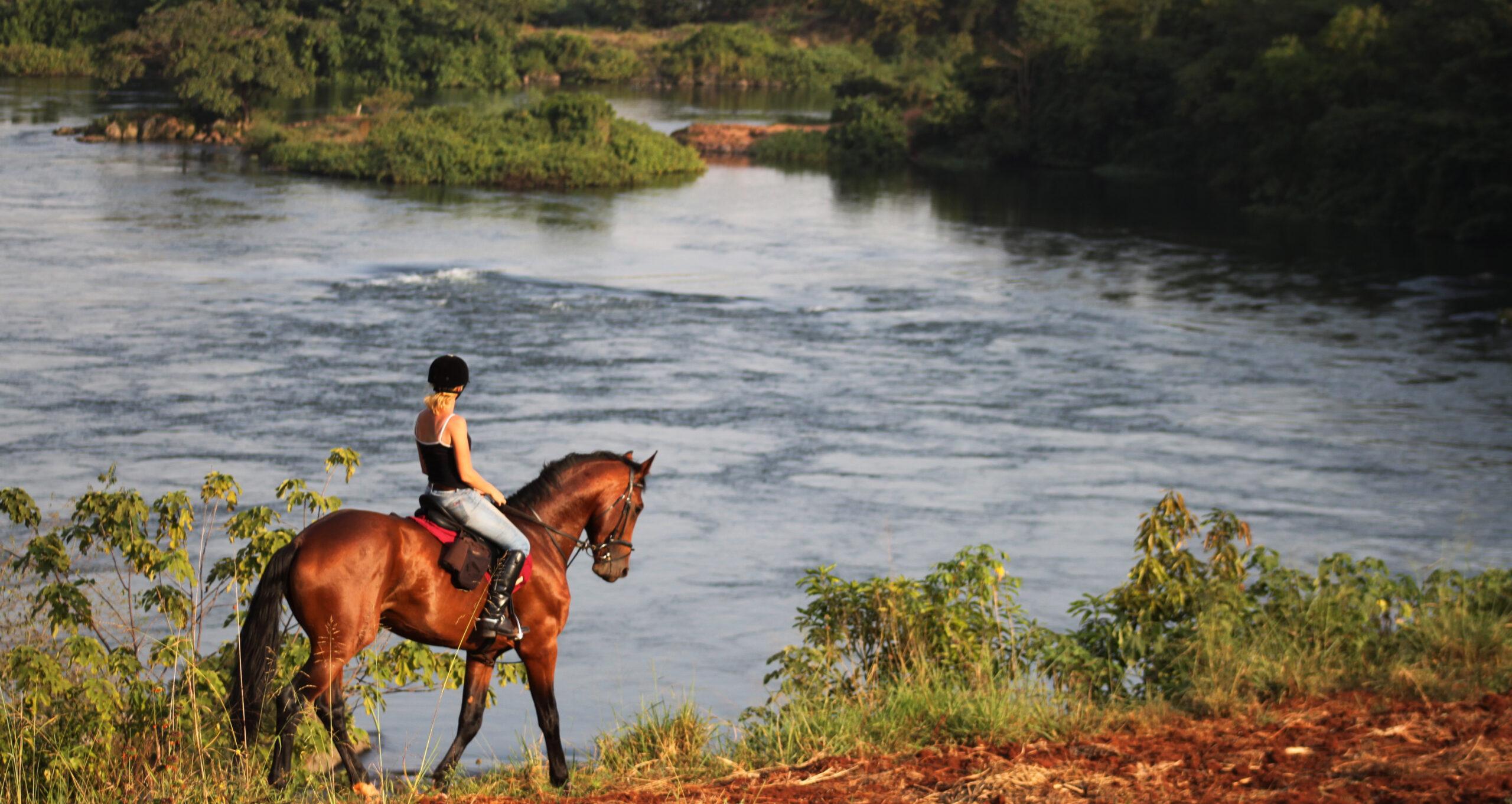 Paardrijden langs de oevers van de Nijl in Uganda - Vakantie te paard / Reisbureau Perlan