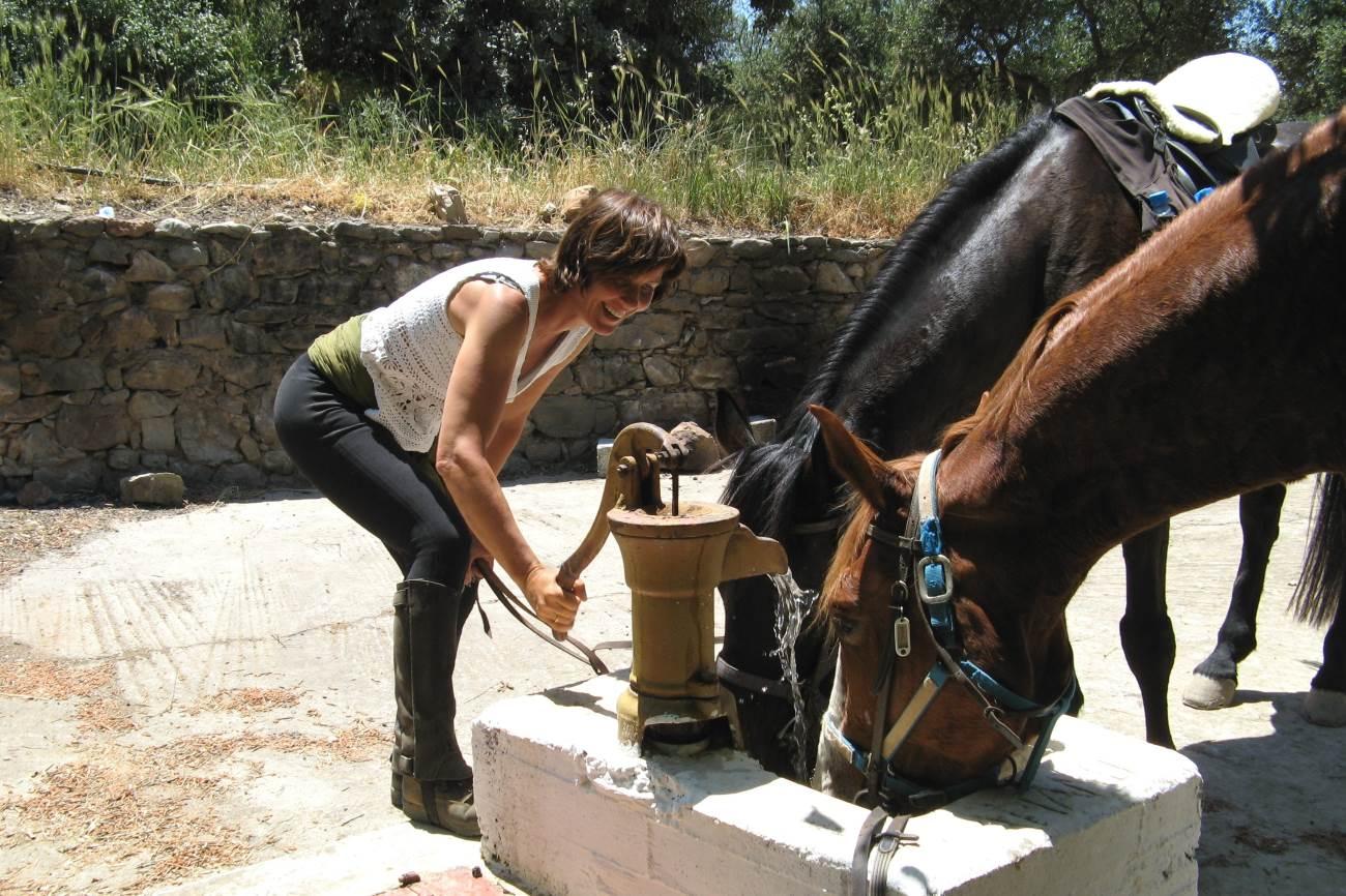 Zon en blije gezichten in Kreta - Vakantie te paard / Reisbureau Perlan